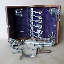 Antique 1880 Curio Engineer Tool Box Sewing / machines calibration rule doctor?