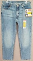 NEW Mens Wrangler Relaxed Fit Straight Leg Medium Light Wash Jeans W 36 x 29 L