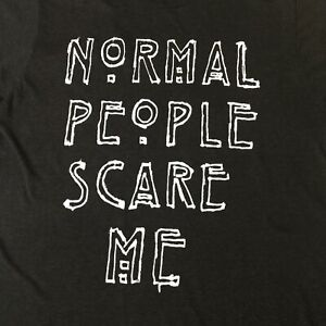 American Horror Story 2016 Medium T-Shirt 'Normal People Scare Me' large spellou