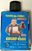 Court Case Magickal Oil Spiritual Glass Blue Color Wicca Law Protection Anoint