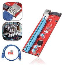 USB3.0 PCI-E Express 1x to 16x Extender Riser Mining Karten SATA Power Kable DE