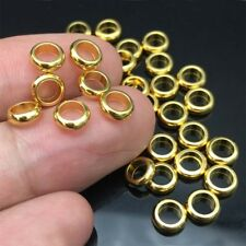 6MM Gold/Silver Stainless Steel Round Big Hole Beads DIY Jewelry Accessories