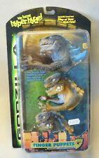 Vtg 90s Action Figur Godzilla FINGER PUPPETS Resaurus 1998 OVP