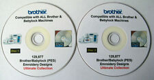 129,877 Brother Babylock PES Formato EMBROIDERY DESIGNS + Free software