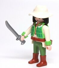 Playmobil Figure Adventure Jungle Crocodile Hunter Explorer w/ Hat Machete 3016