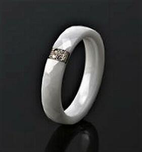 Ring Weiß Keramik mit  CZ Kristallen  (16)