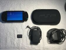 Sony PlayStation Portable PSP Black Console /w Official Charger & 32MB Card UK