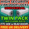 VAUXHALL High Security Locks Van Rear Barn Doors & Sliding Side Loading Pair Set