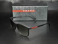PRADA LINEA ROSSA PS 01TS DG00A7 Black Rubber Grey Gradient Men's Sunglasses
