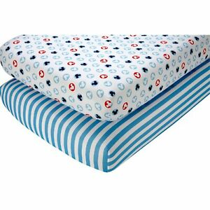"""Disney Mickey Mouse Crib Sheet Set, 2 Count… 52"""" x 28"""" SEE DETAILS 👓"""