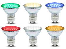 Red Blue Green Yellow GU10 LED Colour LED Light Bulbs Lamp Coloured LEDs