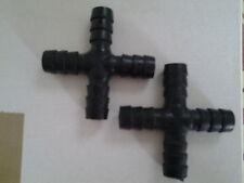 Raccord en croix pour tuyau d'aquarium 8mm lot de 2