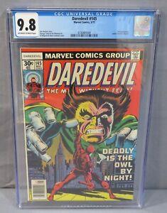 DAREDEVIL #145 (Owl app, Kurt Busiek letter) CGC 9.8 NM/MT Marvel Comics 1977