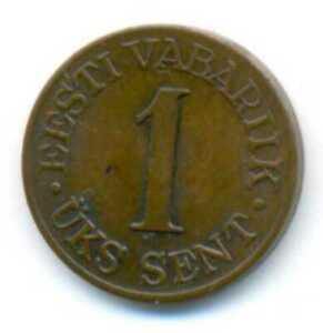Estonia Coin 1939 1 sent