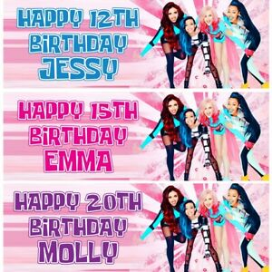 2 Personalised Little Mix Birthday Party Celebration Banners Decoration Posters