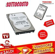 "HARD DISK HDD HD INTERNO 500 GB 500GB SATA 2,5"" NOTEBOOK X PORTATILE TOSHIBA"