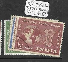 INDIA (P2009B) UPU  SG315-8  SET 3    VFU