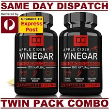 Dakota APPLE CIDER VINEGAR + GARCINIA CAMBOGIA 1500mg 180 Caps ADVANCED FORMULA!