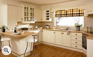 Refresh your kitchen with FP Ivory shaker T&G Panel cupboard door/drawer fronts