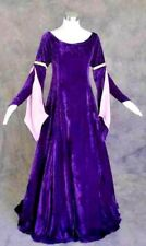 X-Large Ren Faire Formal Gown Long Sleeve Velvet Renaissance Vintage Fashion Sca
