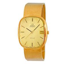 OMEGA 18K Yellow Gold Large Size DeVille Automatic 18K bracelet De Ville Warrant