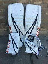 Ccm Extreme Flex 4 Pro Stock Goalie Full Set 37 Oilers Skinner 9170