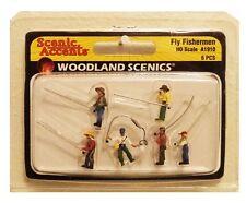 HO Scale Woodland Scenics A1910 Fly Fishermen (6) pcs