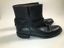 Madewell Women's Black Leather Moto Boots Wrap Biker Ankle Bootie 9 Cafe Racer