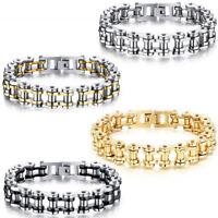 13MM Biker Men Motorcycle Chain Stainless Steel Bracelet Rock Link Wristband Hot