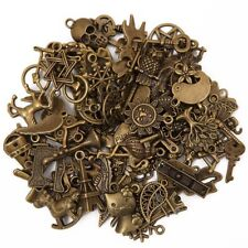 BULK Charms Assorted Pendants Set Antiqued Bronze Mixed Jewelry Findings 100pcs
