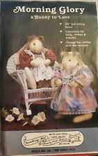 """Gooseberry Hill pattern 132 Morning Glory a Bunny To Love, 20"""" tall sitting down"""
