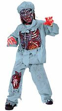 Zombie Doctor Costume for Kids size 12-14 New by Fun World 5957