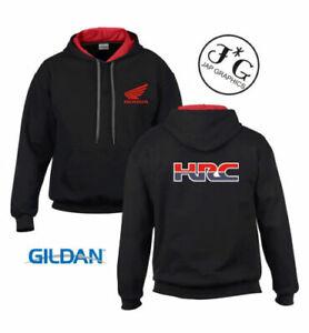 Honda hrc inspired motorbike motorcycle tribute hoodie top size s - xxl