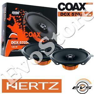 "Hertz Dcx 570.3 Coppia Casse Coassiali Ovali 2 Vie 5x7"" 13x18cm Linea Dieci"