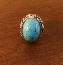 Silver Tone Size 7.5 Two Available Vintage Costume Jewelry Ring Blue Stone