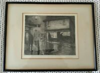 Albert Henry Fullwood Signed The Old Curiosity Shop Antique Etching Framed