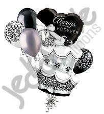7 pc Fun & Fabulous Wedding Cake Balloon Bouquet Decoration Bridal Engagement