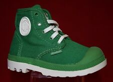 Palladium Pampa Canvas Toddler Boots Green and White - Us size 6 C Ankle Boots