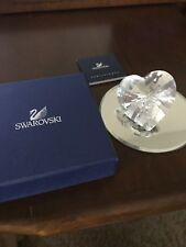 Swarovski Crystal Clear Sparkling Heart 656680 New In Box With Coa