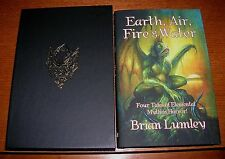 BRIAN LUMLEY EARTH AIR FIRE & WATER SIGNED LIMITED 100 COPIES H.P. LOVECRAFT
