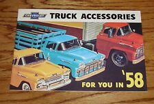 1958 Chevrolet Truck Accessories Sales Brochure 58 Chevy Pickup