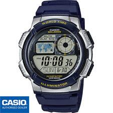 CASIO AE-1000W-2AVEF*AE-1000W-2A*AE-1000W-2*ORIGINAL*AZUL*SUMERGIBLE*WORLDTIME
