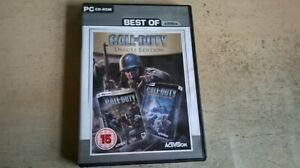 CALL OF DUTY DELUXE EDITION - COD 1 GOTY PC GAME & UNITED OFFENSIVE - COMPLETE