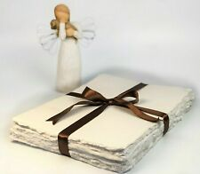 25 pack A4 A5 Antique Vintage Handmade Deckle Edge Paper Custom Stationery
