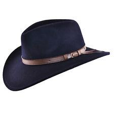 9edebcf25c2f8 Aplastable Fieltro Sombrero de vaquero occidental sombrero de la marina