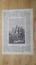 1872: Una Caccia col Falco nel Medio Evo, Falco col cappuccio, Esca, Lacci......