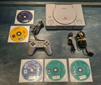 Sony PlayStation 1 PS1 Console & Original Controller Bundle + 5 Games SCPH-5501