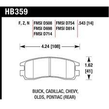 Hawk HB359F.543 HPS Rear Disc BrakePad For 00-05 Buick Lesabre/Park Avenue/Regal