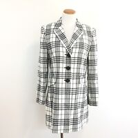 Le Suit Essentials Womens Sz 10 Coat Fitted Long Blazer Jacket Great Look