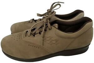 SAS Free Time Women's Brown Tan Lace Up Shoes Suede 9.5S Slim Extra Narrow AS IS